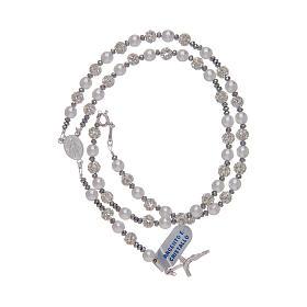 Rosario in argento 800 con strassball e perle s3