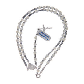 Rosary mother of pearl and 925 sterling silver s3