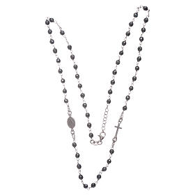 Rosary choker silver with 4,7 mm hematite sphere s3