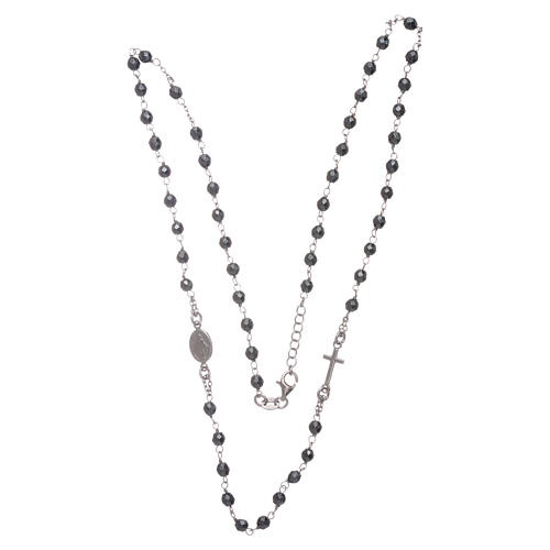 Rosary choker silver with 4,7 mm hematite sphere 3