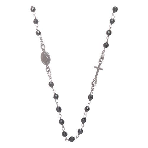 Rosario girocollo silver e sfera in ematite 4,7 mm 2