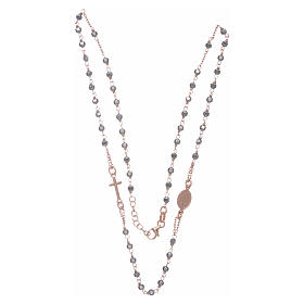Rosary choker copper with 3,7 mm hematite grains s3