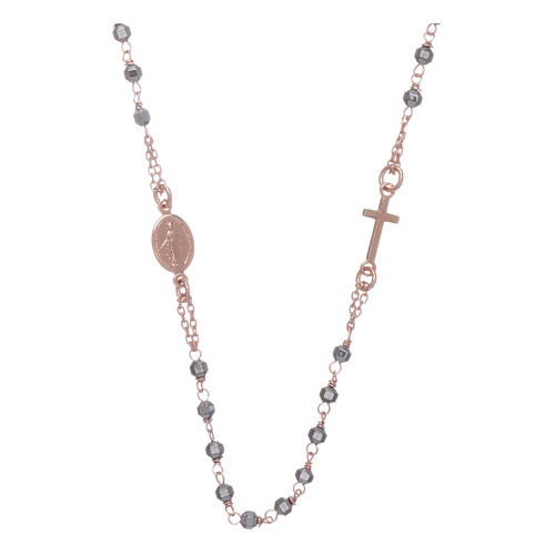 Rosary choker copper with 3,7 mm hematite grains 1