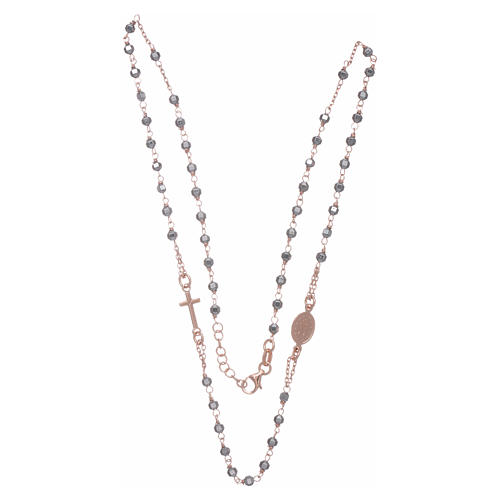 Rosary choker copper with 3,7 mm hematite grains 3