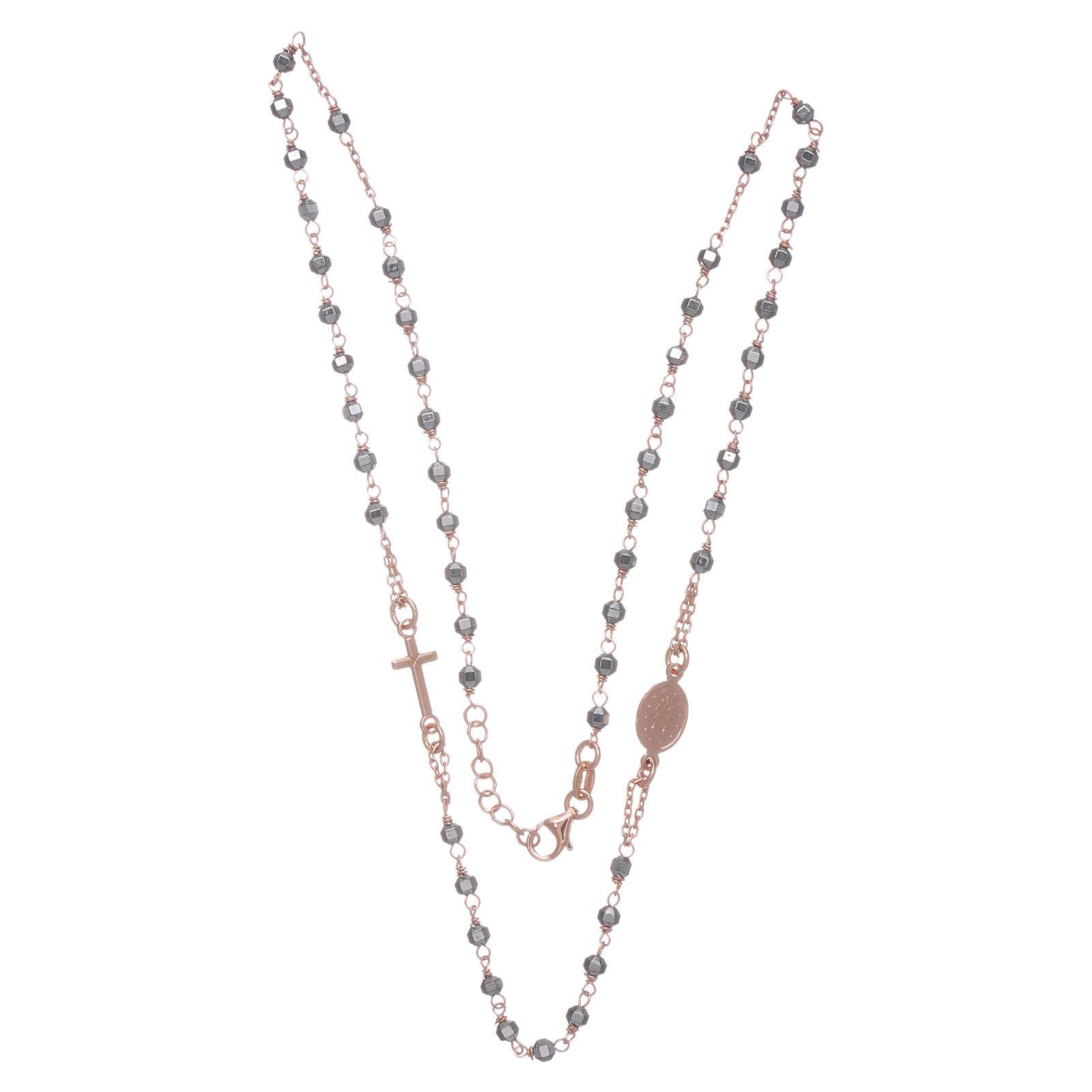 Chapelet tour de cou cuivré et perles hématite 3,7 mm 4