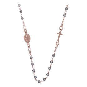 Chapelet tour de cou cuivré et perles hématite 3,7 mm s1