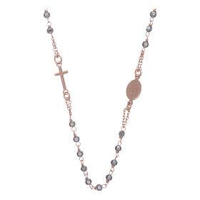 Chapelet tour de cou cuivré et perles hématite 3,7 mm s2