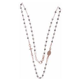 Chapelet tour de cou cuivré et perles hématite 3,7 mm s3