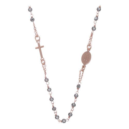 Chapelet tour de cou cuivré et perles hématite 3,7 mm 2