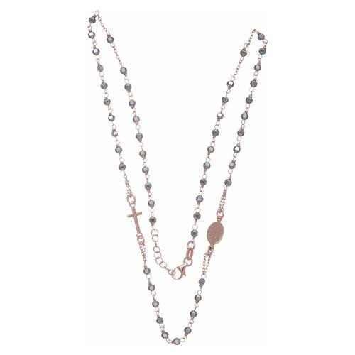 Chapelet tour de cou cuivré et perles hématite 3,7 mm 3