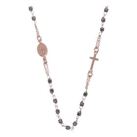 Rosary choker copper with square hematite grains s2