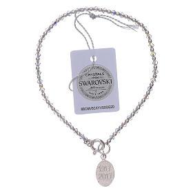 Our Lady of Fatima bracelt with Swarovski and silver beads s2