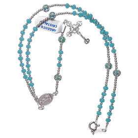 Rosary Our Lady of Fatima's centerpiece in silver and crystal s4