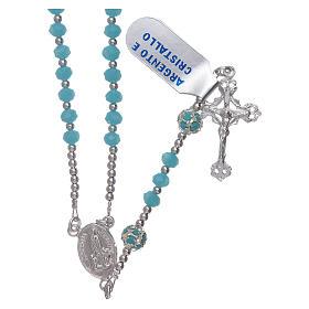 Rosario Virgen de Fátima centenario de plata y cristal s1