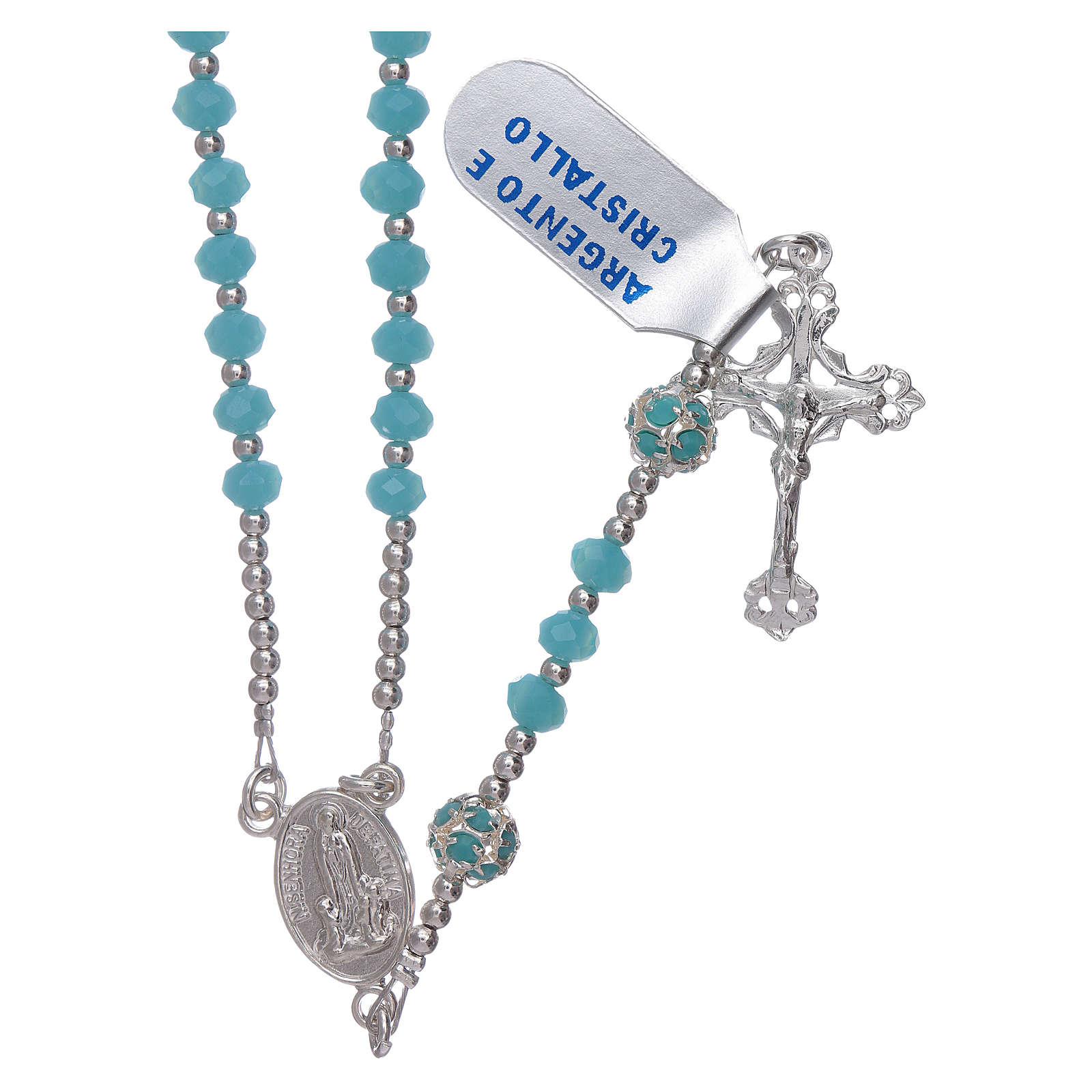 Różaniec Matka Boska Fatimska stulecie objawienia srebro i kryształ 4