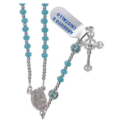 Różaniec Matka Boska Fatimska stulecie objawienia srebro i kryształ 1