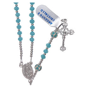 Rosary Our Lady of Fatima's centerpiece in silver and crystal s1
