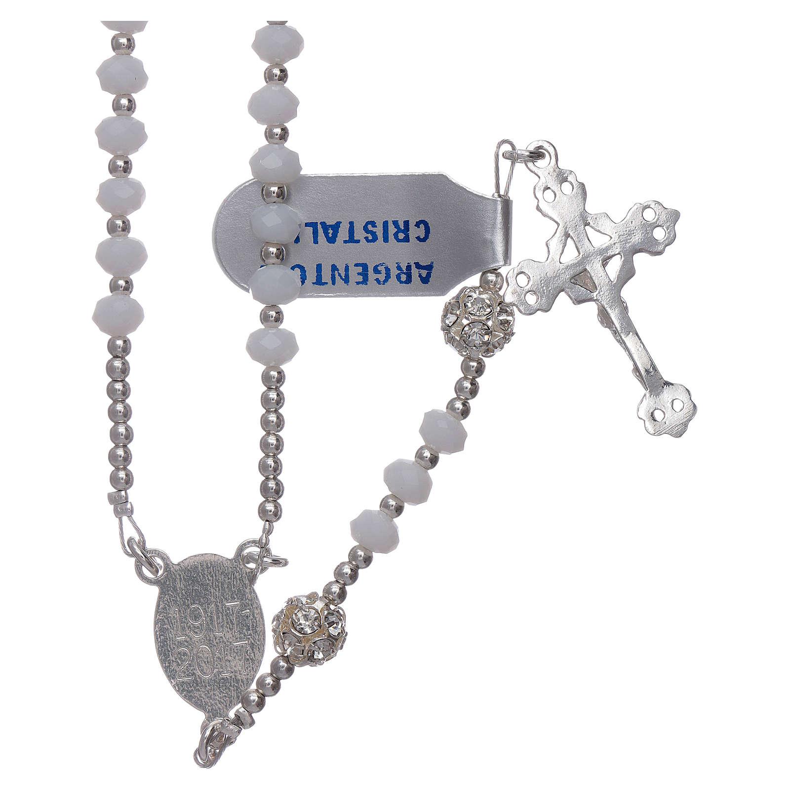 Rosario Centenario de la Aparición Virgen de Fátima plata 925 4