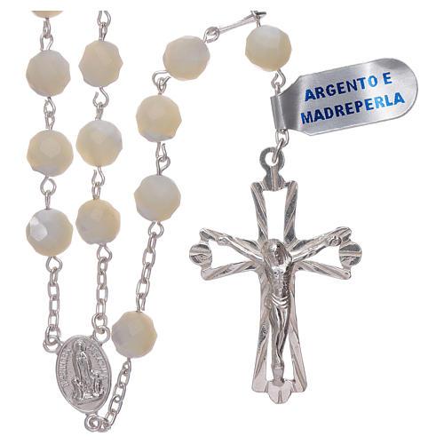 Rosario Madonna di Fatima centenario dall'apparizione argento 1