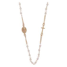 Rosario gargantilla AMEN Jubileo plata 925 dorado perlas Swarovski s2