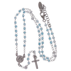 Classic rosary AMEN junior model in 925 sterling silver with crystals s4