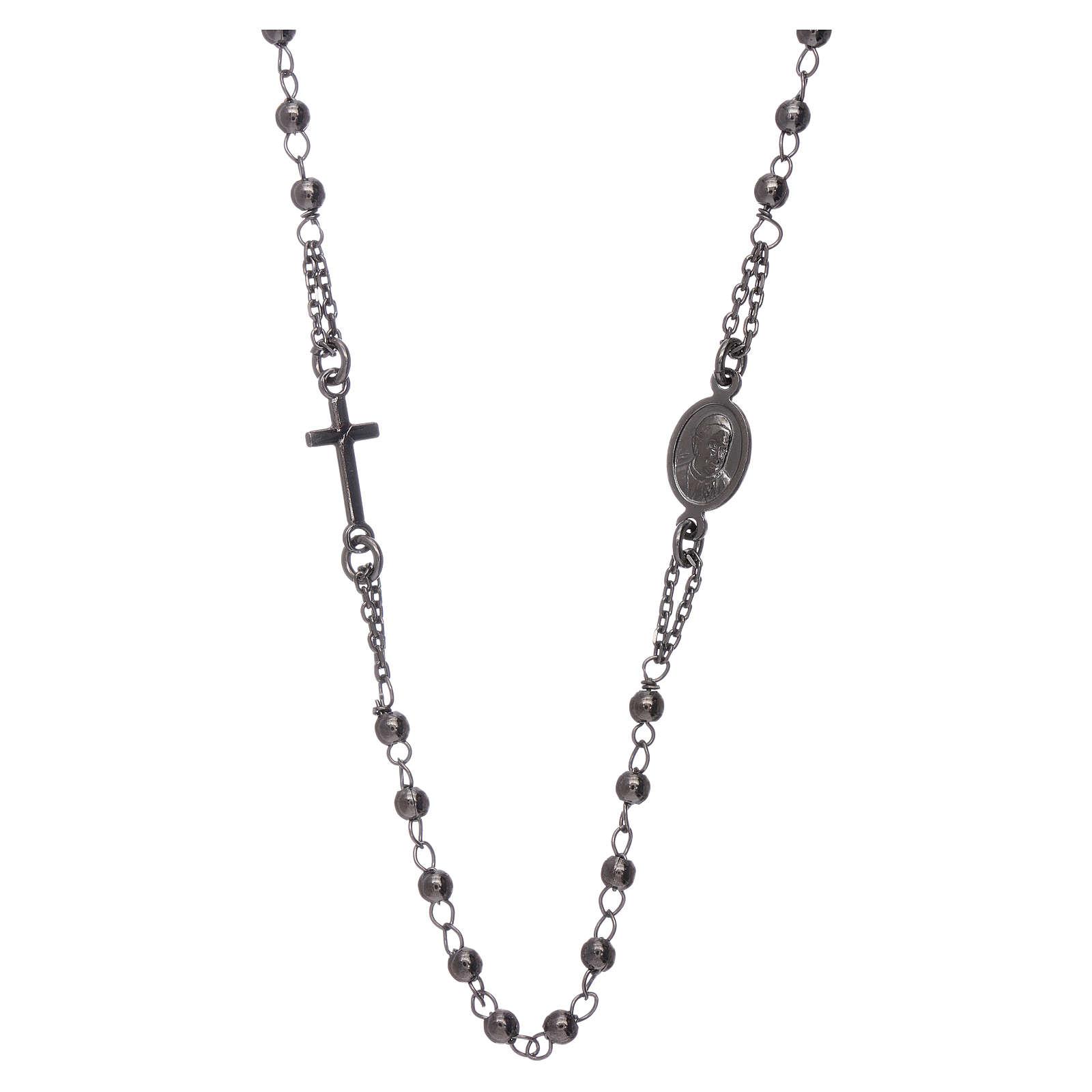 Rosario girocollo AMEN argento 925 brunito 4