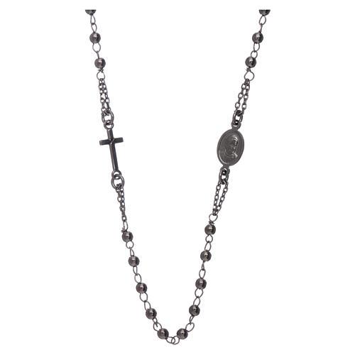 Rosario girocollo AMEN argento 925 brunito 2