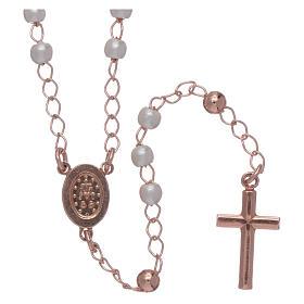 Rosario AMEN clásico de plata 925 perlas y pavé s2