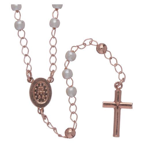 Rosario AMEN clásico de plata 925 perlas y pavé 2