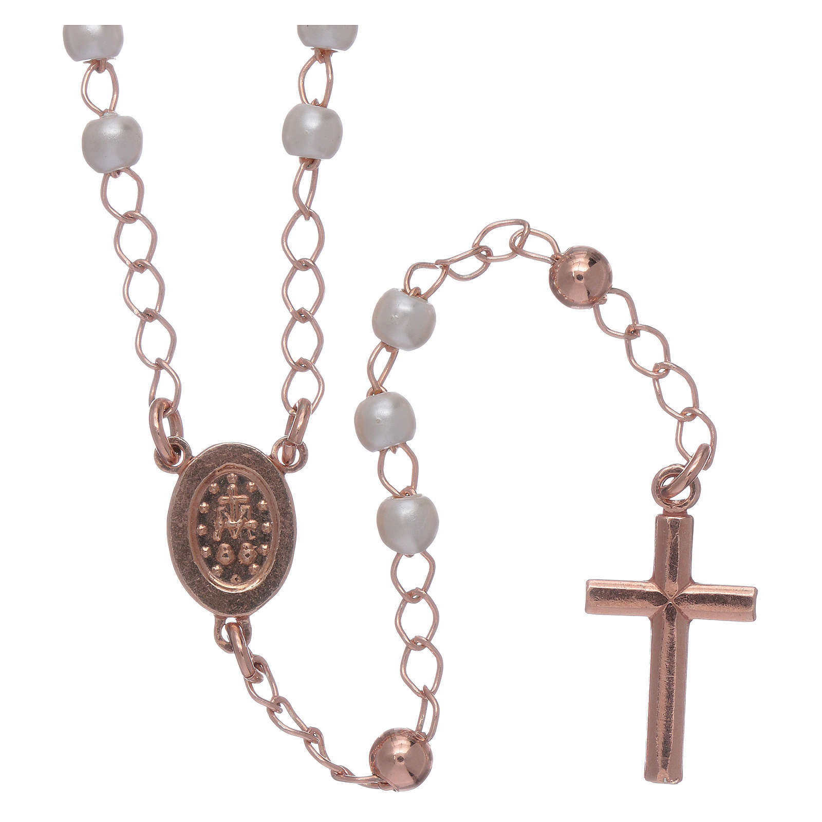 Classic rosary AMEN in 925 sterling silver and micro pave beads 4