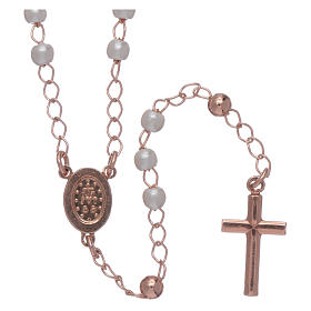 Classic rosary AMEN in 925 sterling silver and micro pave beads s2
