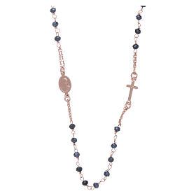Rosario girocollo di cristalli AMEN argento 925 rosé s2
