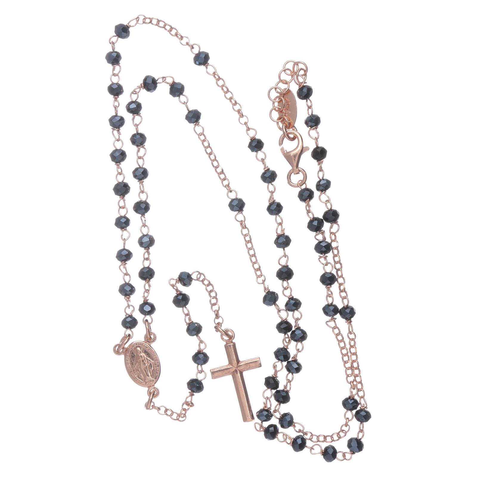 Classico rosario AMEN argento 925 rosé e cristalli 4