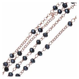 Classico rosario AMEN argento 925 rosé e cristalli s3