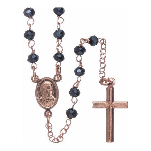 Classico rosario AMEN argento 925 rosé e cristalli 2