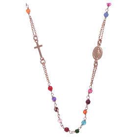 Girocollo rosario AMEN agata 2 mm argento 925 rosé s2