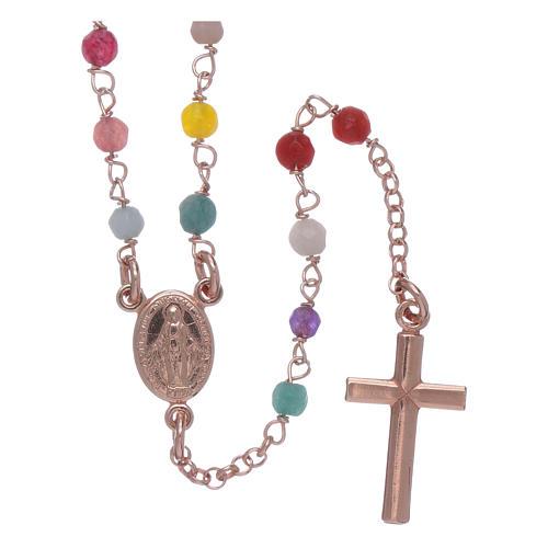 Rosario Amen clásico plata 925 rosada ágata 1