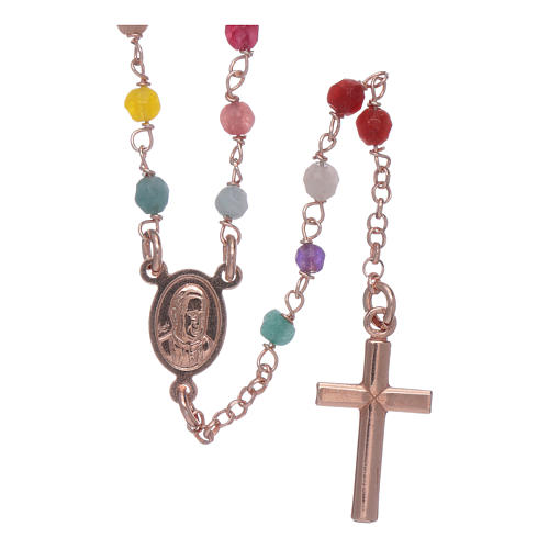 Rosario Amen clásico plata 925 rosada ágata 2