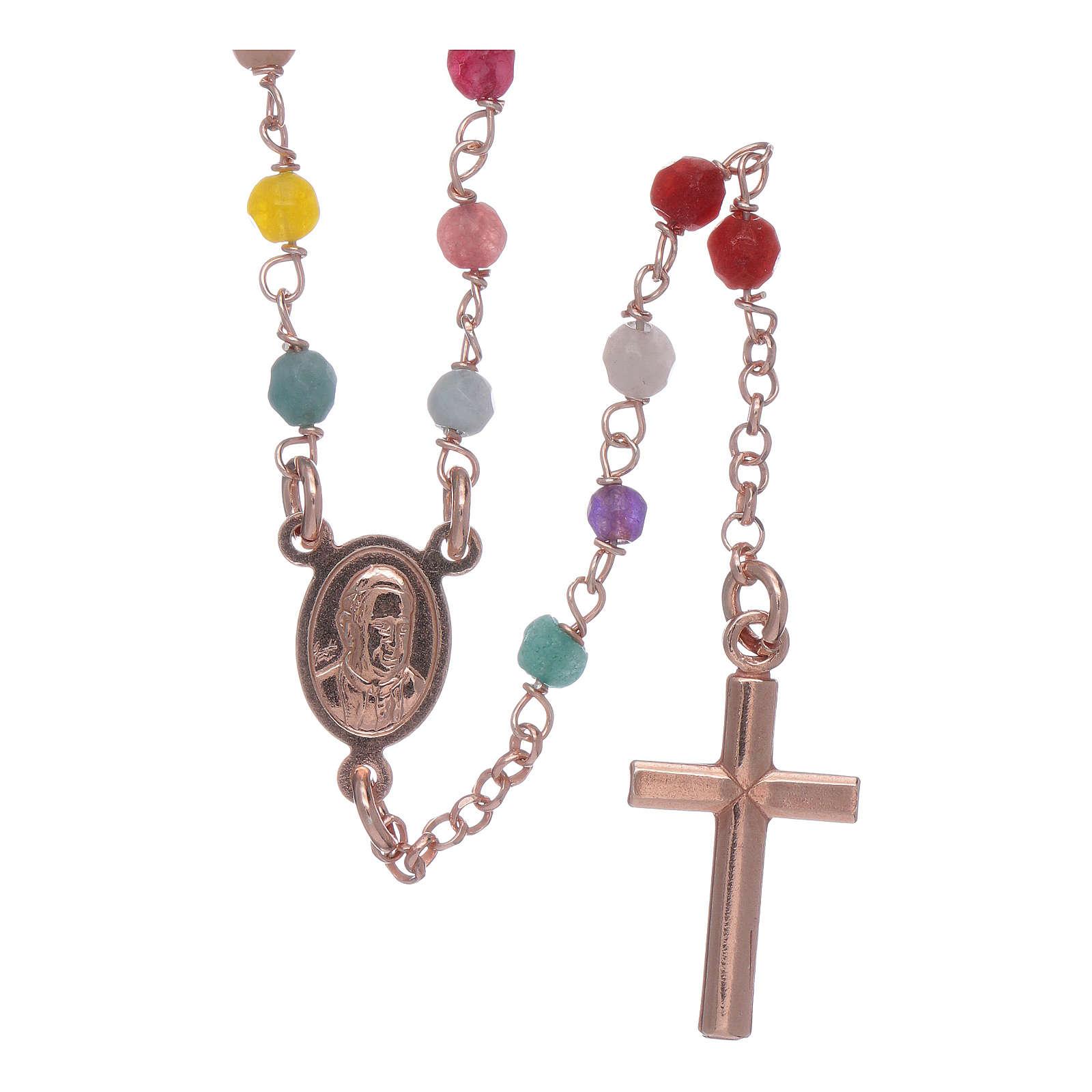 Rosario Amen classico argento 925 rosé agata 4