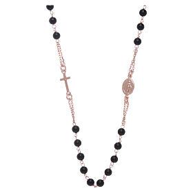Girocollo rosario AMEN agata 3 mm rosé argento 925 s1