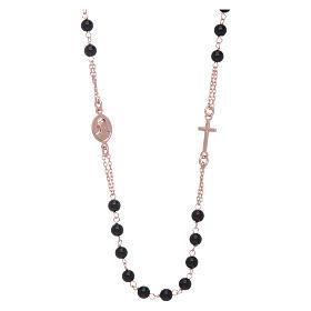 Girocollo rosario AMEN agata 3 mm rosé argento 925 s2