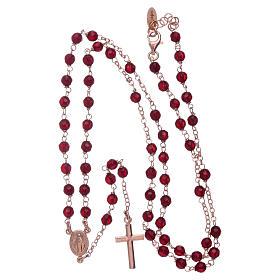 Clásico rosario AMEN rosado plata 925 ágata 3 mm s4