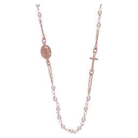 Gargantilla rosario perlas Swarovski AMEN plata 925 oro s2