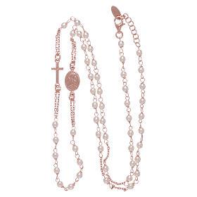 Gargantilla rosario perlas Swarovski AMEN plata 925 oro s3