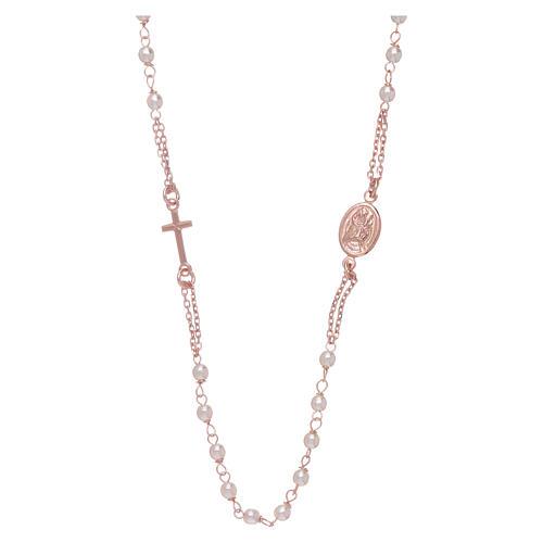 Gargantilla rosario perlas Swarovski AMEN plata 925 oro 1