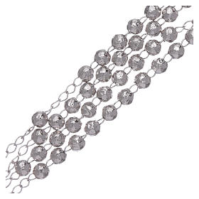 AMEN classic rosary in 925 sterling silver finished in rhodium and 4 mm spheres s3