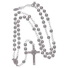 AMEN classic rosary in 925 sterling silver finished in rhodium and 4 mm spheres s4