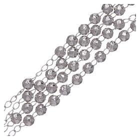 Rosario AMEN clásico rodiado plata 925 esferas 4 mm s3