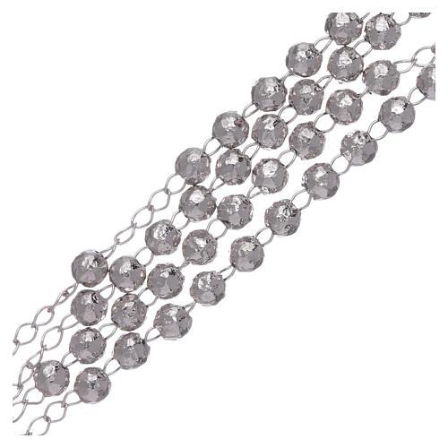 Rosario AMEN clásico rodiado plata 925 esferas 4 mm 3