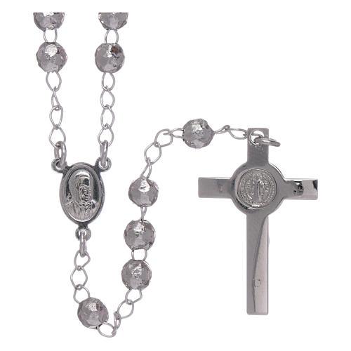 Rosario AMEN classico rodiato argento 925 sfere 4 mm 2